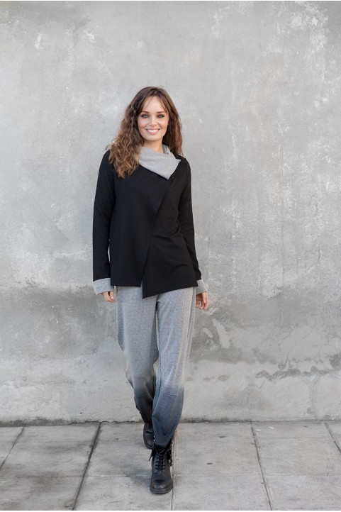 Veste avec cape noir